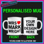 MRS MRS WRIGHT ESSEX I LOVE HEART MUG PERSONALISED GIFT
